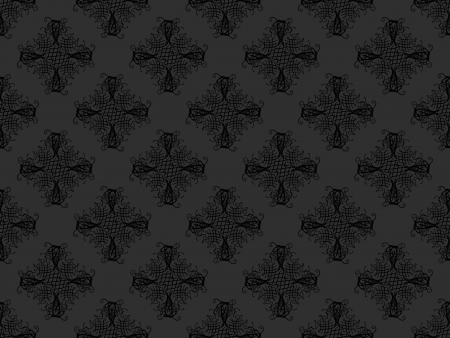 Black and grey damask seamless wallpaper pattern