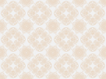 Beige damask seamless wallpaper pattern Stock Photo - 8802103