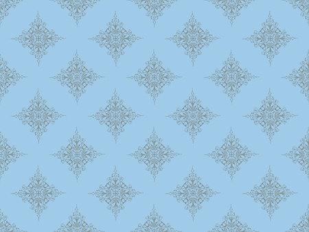Blue damask seamless wallpaper pattern Stock Photo - 8802098