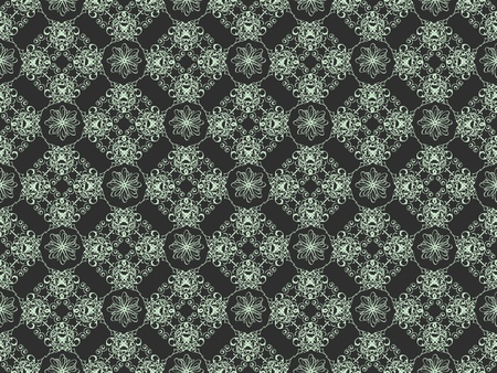 Black and blue damask seamless wallpaper pattern Stock Photo - 8802105