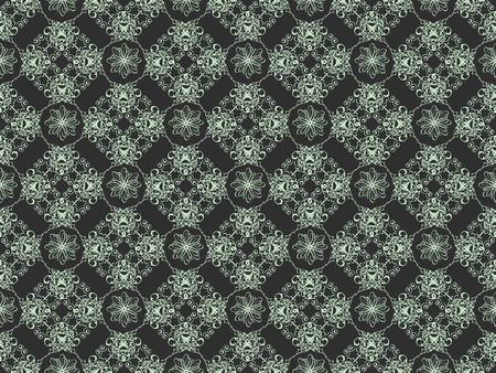 Black and blue damask seamless wallpaper pattern photo
