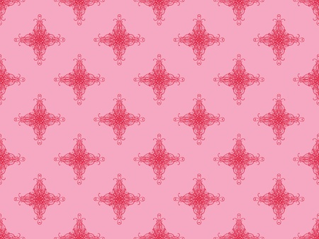 Pink damask seamless wallpaper pattern Stock Photo - 8802101