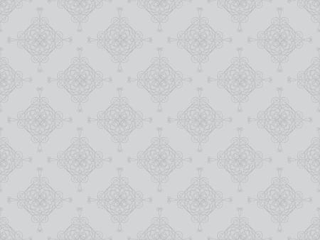 Grey damask seamless wallpaper pattern Stock Photo - 8802096