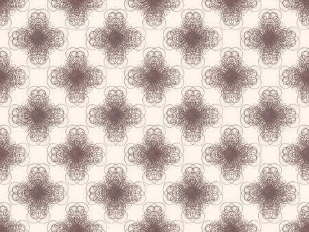 Brown damask seamless wallpaper pattern Stock Photo - 8802114