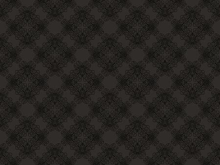 Black and grey damask seamless wallpaper pattern