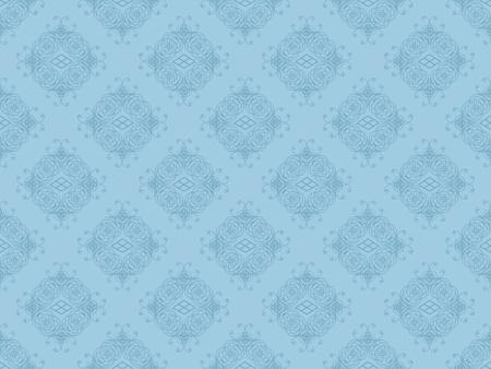 Blue damask seamless wallpaper pattern Stock Photo - 8802110
