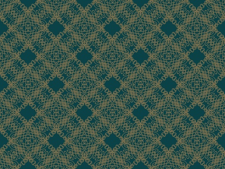Blue and brown damask seamless wallpaper pattern Stock Photo - 8802113