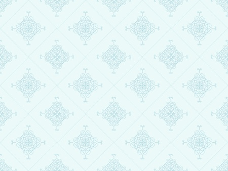 Blue damask seamless wallpaper pattern