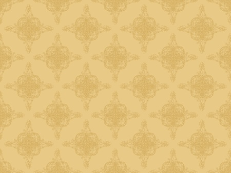 Brown damask seamless wallpaper pattern Stock Photo - 8802108