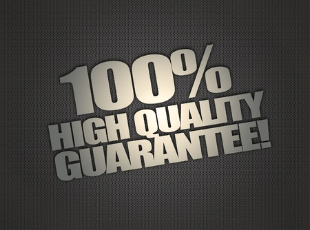Guarantee message on abstract metalic mesh background Stock Photo