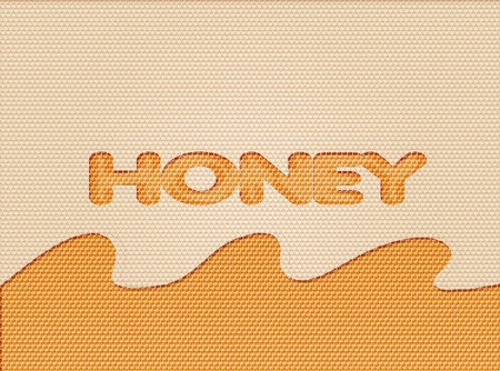 illustration of a honeycomb background with drops  illustration