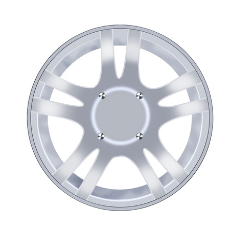 car alloy rim isolated over white background