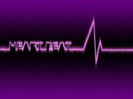 medical background with a heart beat cardiogram photo