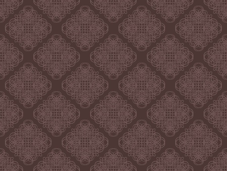 Brown damask seamless wallpaper pattern Stock Photo - 8990398