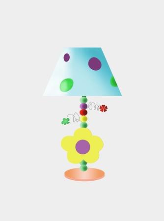 色とりどりの面白い子供のテーブル ランプ