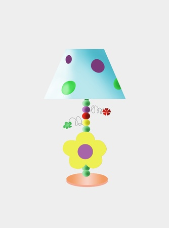 Multicolored funny childrens table lamp
