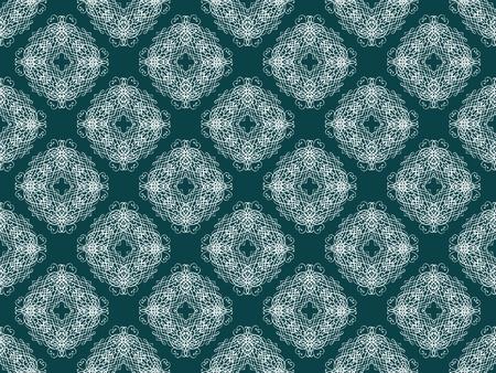 青と白のダマスク織のシームレスな壁紙パターン