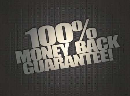 抽象的なメタリック メッシュの背景にお金戻るメッセージ 写真素材