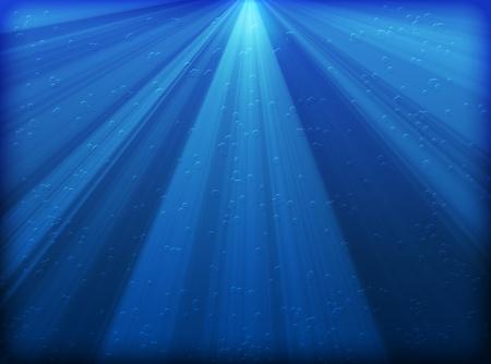 滴と抽象的な青い水の背景