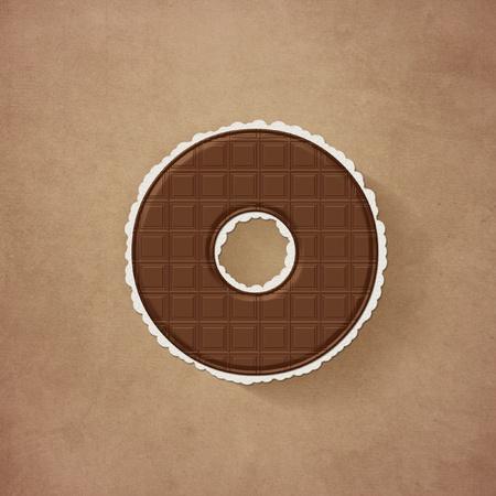 茶色のチョコレート数 0 無