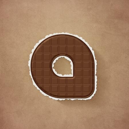 -チョコレート茶色のアルファベット、