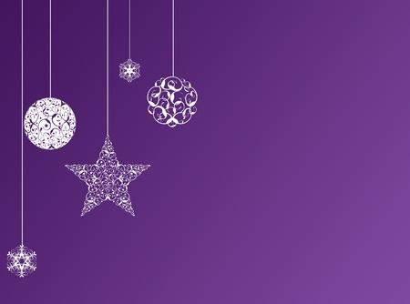紫のクリスマス新年の背景