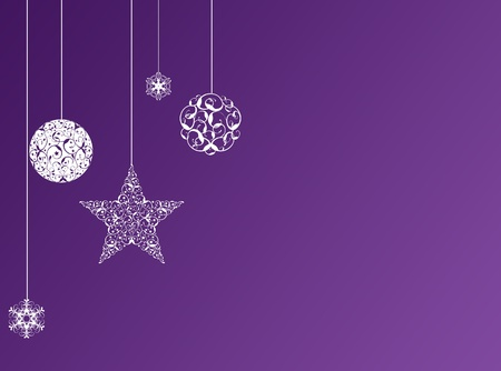 Purple christmas new year background   Stock Photo
