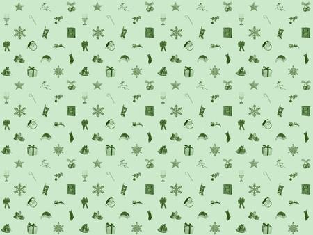 冬の緑のクリスマスのシームレスな背景
