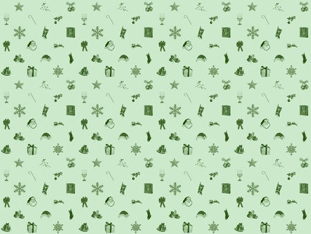 Winter green christmas seamless background