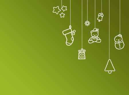 Green christmas new year background