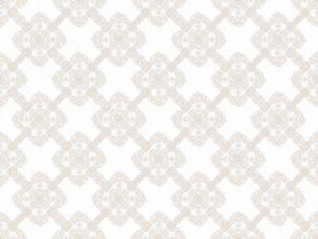 ベージュ色のダマスク織のシームレスな壁紙パターン