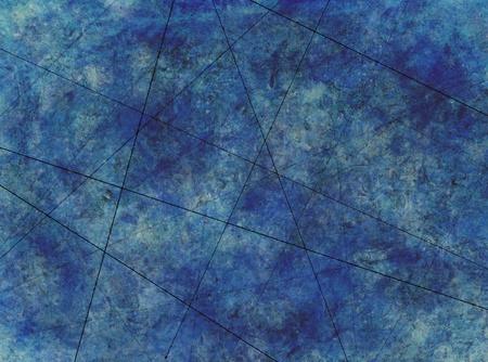 青い抽象グランジ汚い背景