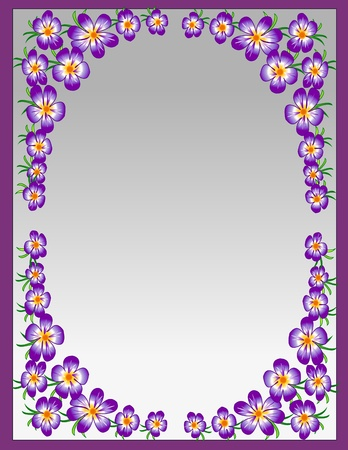 decorative flowers in a frame Vector