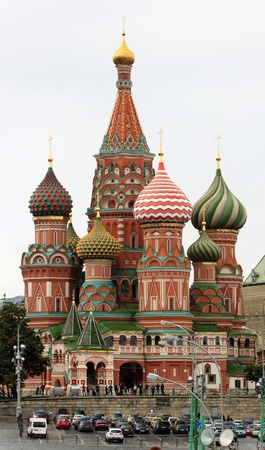 view of st. basils cathedral in moscow