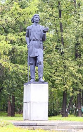 gorky:  Soviet writer Maxim Gorky monument in Moscow park
