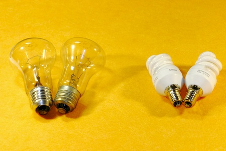 light bulbs, lighting, different costs of electricity  Stock Photo - 11687843