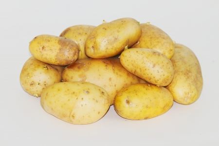 potatoes on a white background photo
