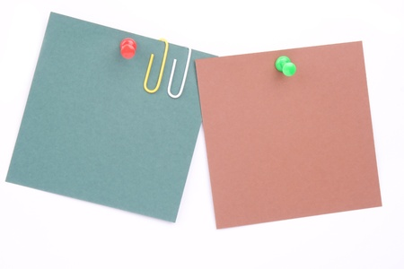 Paper for notes on a white background Stock Photo - 9744363