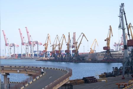 Sea Port in Odessa, Ukraine street shooting Editorial