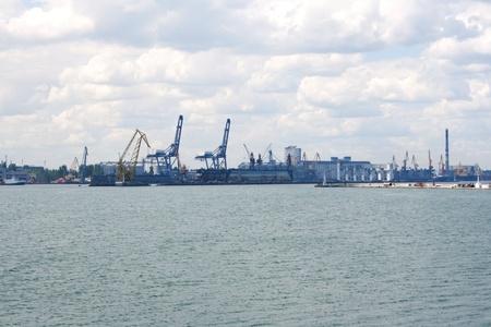 Sea Port in Odessa, Ukraine street shooting photo