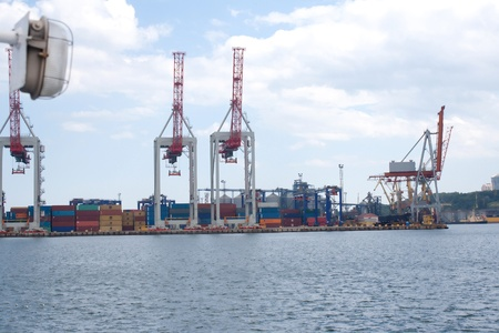 Sea Port in Odessa, Ukraine street shooting