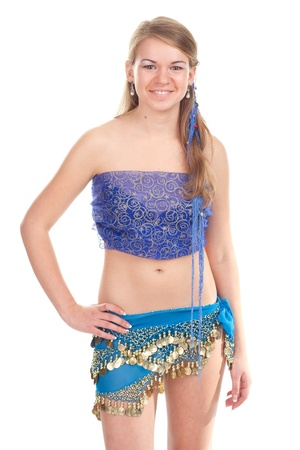 Arabic dance performed by a beautiful blonde photo