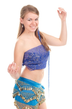 Arabic dance performed by a beautiful blonde Stock Photo - 13121238