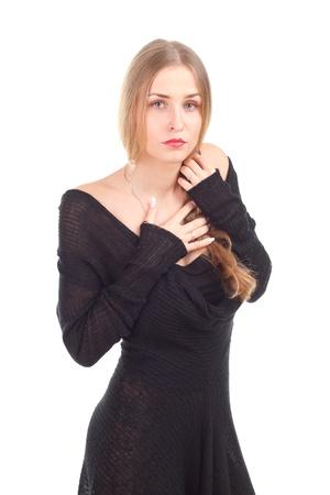 fashion photo elegant girl in dress studio shoot Stock Photo - 13457908