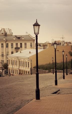 old street in the city of Kiev Ukraine photo