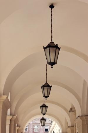 The old lantern in the Lvov, Ukraine photo