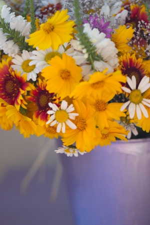 Beautiful bouquet of wild flowers photo