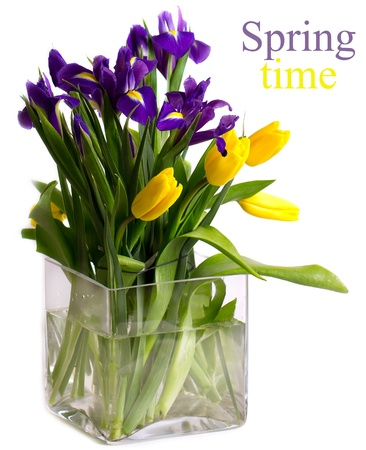 Bright bouquet of spring flowers  photo