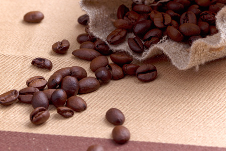 finite: sack of coffee grains Stock Photo
