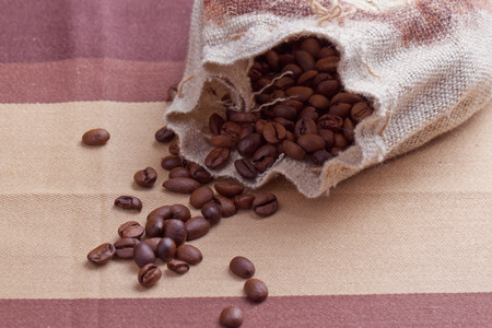 sack of coffee grains photo